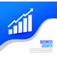business growth concept presentation background vector image vector image