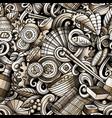 cartoon cute doodles hand drawn japan food vector image vector image