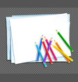 color pencils lying on paper vector image vector image