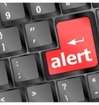 Computer keyboard with attention key alert - vector image vector image