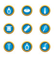consumable icons set flat style vector image vector image