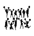 cool cheerleaders silhouette vector image