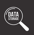 data storage word magnifying glass vector image