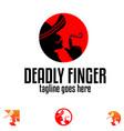 deadly finger symbol concept vector image vector image
