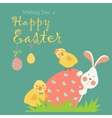 Easter bunnychicken and easter egg vector image vector image