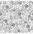 easter white and black seamless vector image vector image