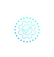 execution icon with cogwheel vector image vector image