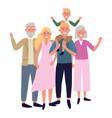 family avatar cartoon character vector image