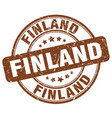 finland brown grunge round vintage rubber stamp vector image vector image