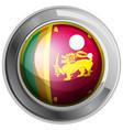 flag of srilanka on round badge vector image vector image