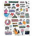fun sticker collection vector image vector image