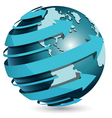 Globe with blue arrow vector | Price: 1 Credit (USD $1)