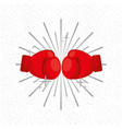 gloves boxing sport sunburst background vector image