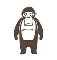 gorilla cartoon graphic vector image vector image