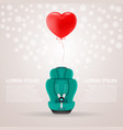 green child car seat with red baloon in shape of vector image vector image