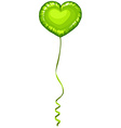 Heart shape balloon in green color vector image