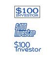 investor-100-dollar-logos vector image