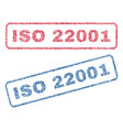 iso 22001 textile stamps vector image vector image