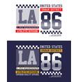la california sport t-shirt graphics vector image vector image