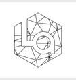 la geometric triangle block chain font vector image vector image