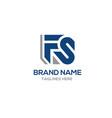 letter fs logo vector image vector image
