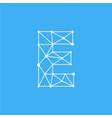 logo letter e dots lines vector image