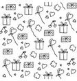 love symbols seamless pattern happy valentine s vector image