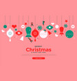 merry christmas holiday people website template vector image vector image