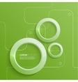 Modern abstract design with 3D glowing rings vector image vector image