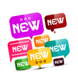 new labels - tags set isolated on white vector image