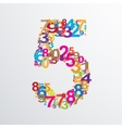 number five from numbers vector image