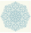 Ornamental round lace with drops vector image vector image