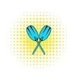 Paddle icon comics style