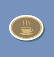 paper sticker on stylish background logo coffee vector image vector image