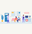 patient care and clinical services vector image