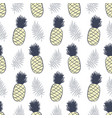 pineapples and tropical leaves seamless pattern vector image
