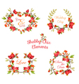 Pomegranates Floral Banners and Tags vector image vector image