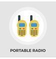 Portable radio flat icon vector image