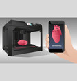 printing human organs in a 3d printer vector image
