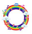 Rainbow Music 002 vector image