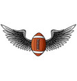 realistic ball for american football with black vector image vector image