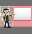 schoolboy with a pointer vector image