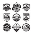 set adventure outdoor concept badges camping vector image vector image