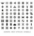 set akan and adinkra -west african- symbols vector image vector image