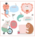 Set of birthday cards gift tags labels vector image vector image