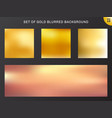 set of gold blurred background luxury style vector image vector image