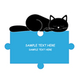 sleeping cat boy vector image vector image
