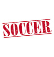 soccer red grunge vintage stamp isolated on white vector image vector image