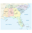 southeastern united states map vector image