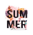summer concept for web banner website page vector image